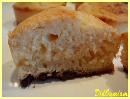 Recette de muffins pomme-litchis sur leurs tapis de chocolat