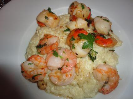 Risotto saint-jacques et gambas