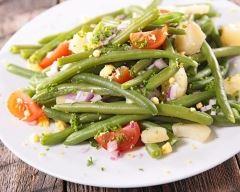 Recette salade express haricots verts, pommes de terre et tomate ...
