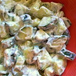 Recette salade de concombre (masht