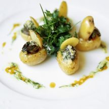 Pommes de terre farcies aux escargots