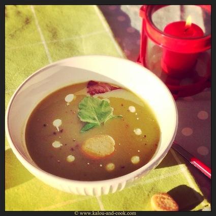 Recette de soupe de cresson, patate douce et artichauts