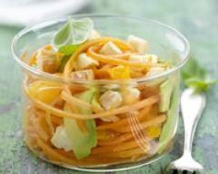 Recette salade de carotte, avocat et reblochon de savoie à l'orange