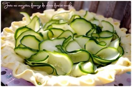 Recette de tarte aux courgettes fromage de chèvre frais et menthe ...