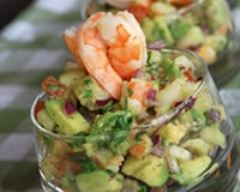Recette salade d'avocats aux crevettes et aux pétoncles