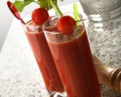 Flan de tomates aux jeunes pousses d 39 oignons recette - Recette bloody mary ...