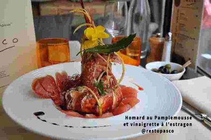 Recette de homard au pamplemousse et vinaigrette à l'estragon