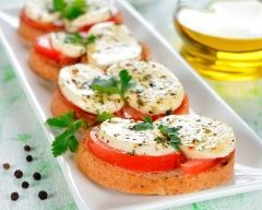 Recette toasts tomates et mozarella