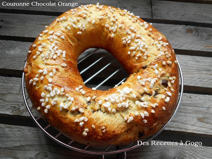 Recette de couronne chocolat orange