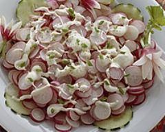 Recette radis roses en salade