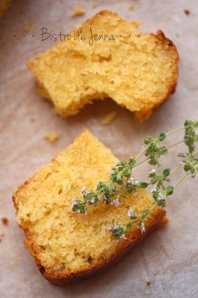 Recette de cake au citron et fleur de thym