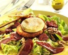 Recette salade au cabécou du périgord