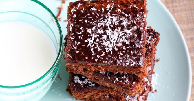 Recette de brownies diététiques à la noix de coco et sirop de guarana