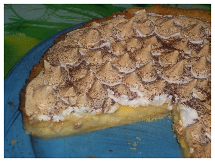 Recette de tarte à la clémentine meringuée, pâte brisée