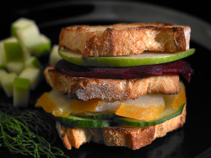 Recette de mini club-sandwichs de banette epeautre, son flétan et ...