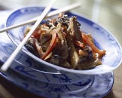 Recette porc sauté aux pousses de bambou