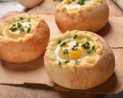 Recette pains surprises façon œuf cocotte