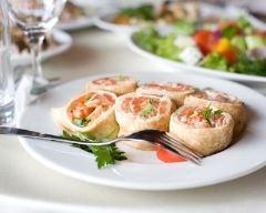 Recette roulés de crêpe au saumon fumé et fromage frais