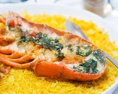 Recette homard rôti au beurre anisé et riz sauté parfumé au ...