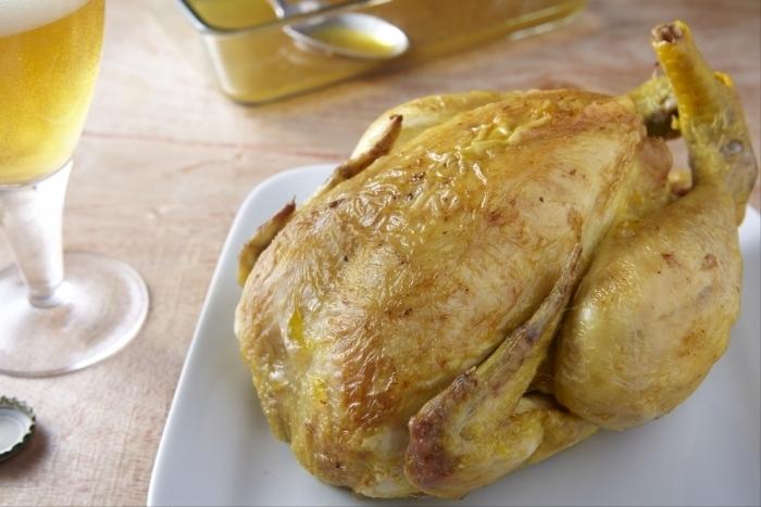 Recette de poulet jaune rôti à la bière facile et rapide