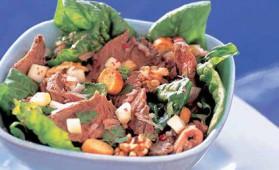Salade de paleron de boeuf pour 4 personnes