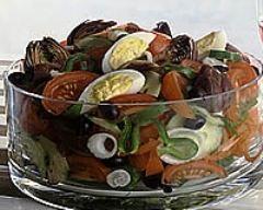 Recette salade niçoise, assaisonnement maison