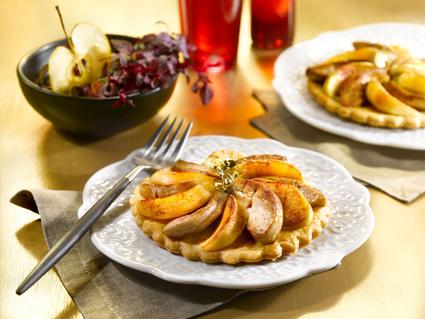 Recette tartelettes de foie gras aux pommes (tarte salée)
