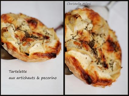 Recette de tartelette aux artichauts & pecorino