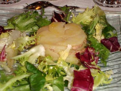 Recette de petit gâteau de pommes de terre au foie gras