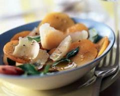 Recette salade d'abricots au parmesan