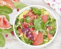 Recette salade de jeunes pousses, pamplemousse et avocat