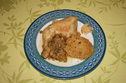 Recette de tajine de poulet aux épices, courgette et citron confit