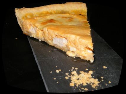 Recette de quiche au poulet , potiron et fromage