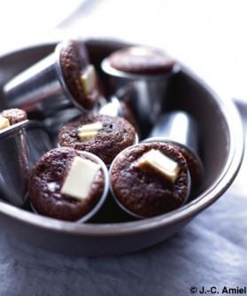 Petits gâteaux, cœur de chocolat blanc pour 4 personnes