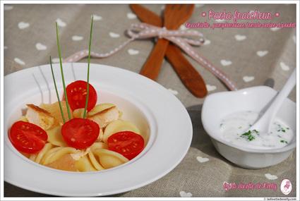 Recette de salade de pâtes (poulet-pamplemousse-tomate cerise ...