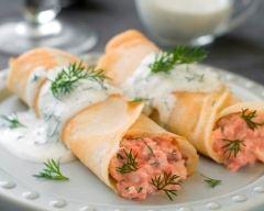Recette crêpe salées au saumon
