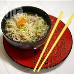 Recette soupe asiatique au porc et au gingembre – toutes les ...
