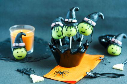 Recette de pop cakes sorcières aux amandes