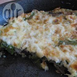 Recette omelette au four aux asperges et aux champignons ...