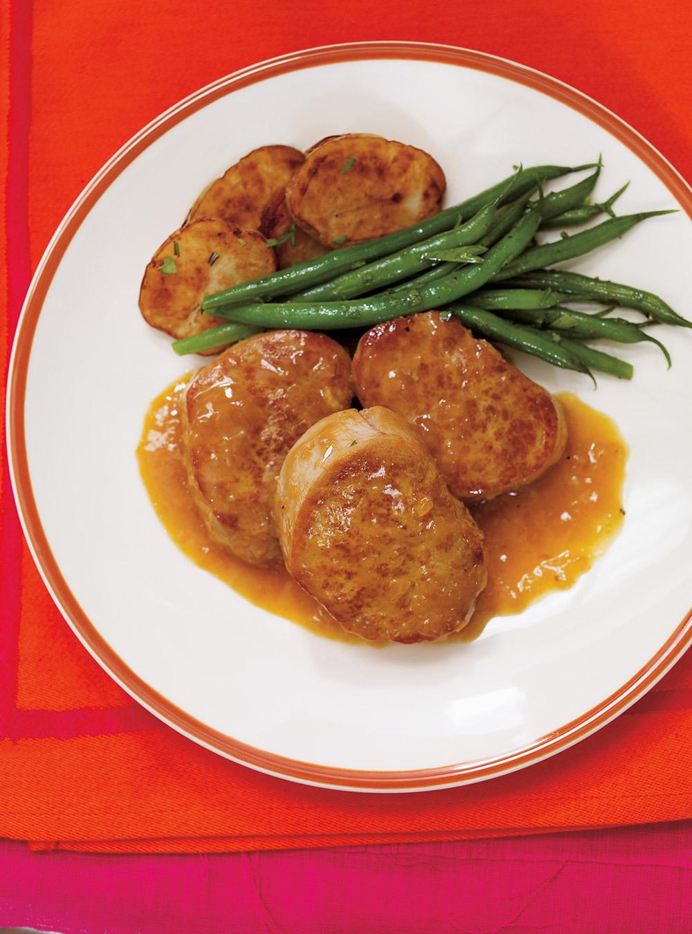 Médaillons de porc, sauce à la clémentine   ricardo