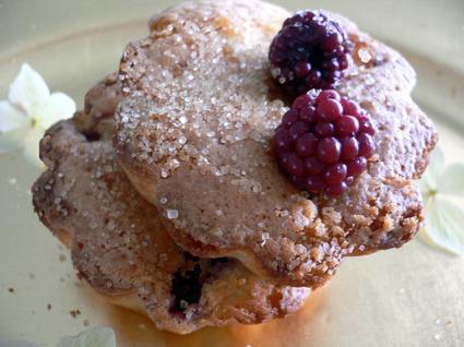 Recette de muffins aux mûres et à la rhubarbe