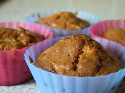 Recette de muffins pomme-nougatine