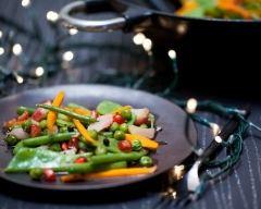Recette légumes croquants et vinaigrette à la grenade et au poivre ...