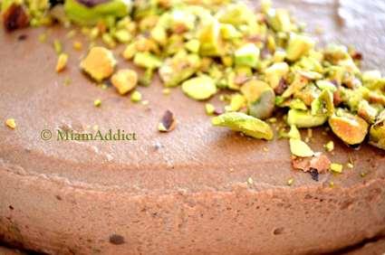 Recette de bavarois chocolat biscuit pistache