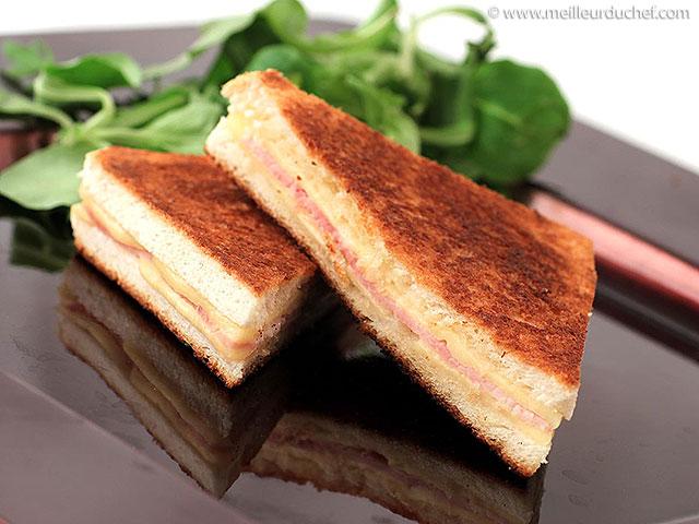 Croque-monsieur  recette de cuisine illustrée  meilleurduchef.com