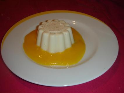 Recette de panna cotta légère au coulis de mangue