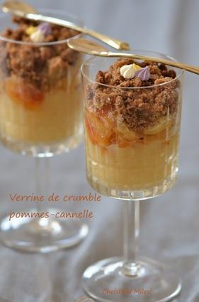 Recette de verrines de crumble pommes-cannelle