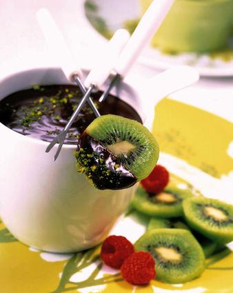 Recette de fondue de kiwi au chocolat