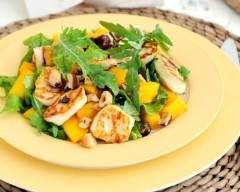 Recette salade de roquette, poulet grillé et mangue