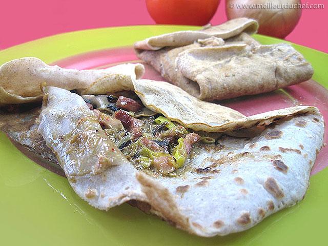 Galettes aux poireaux et champignons  fiche recette avec photos ...